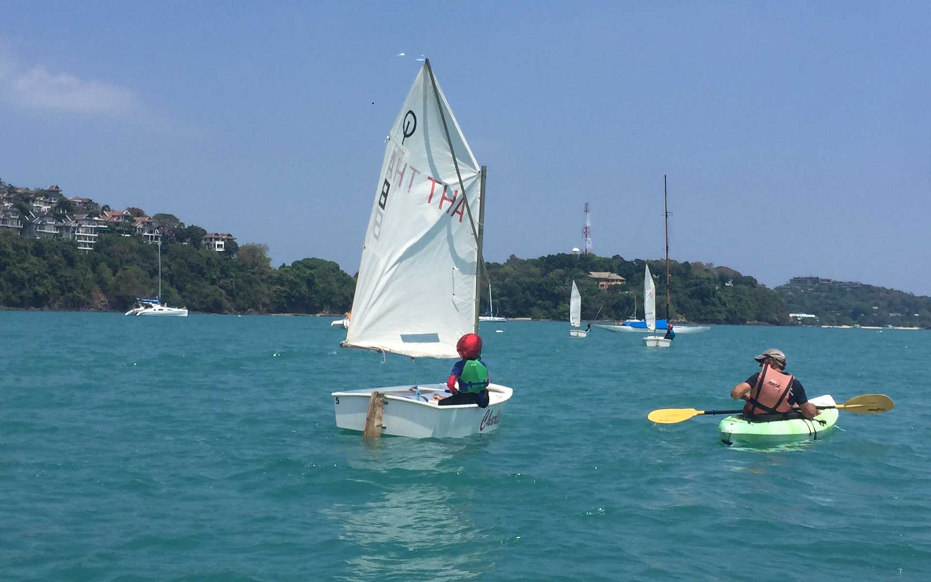 School outing dinghy sailing
